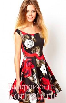 Крой и шитье - выкройка платья без рукавов