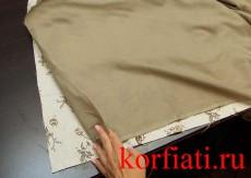 Скатерть своими руками - обработка подкладки