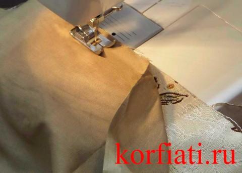 Обработка подкладки скатерти