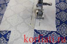 Обработка разреза рукава планкой - пристрочить планку и обтачку