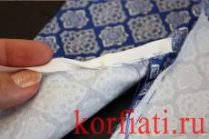 Обработка разреза рукава планкой - подвернуть косую обтачку