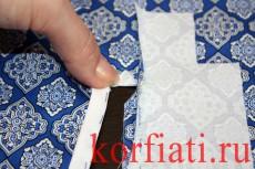 Обработка разреза рукава планкой - треугольник отогнуть вверх