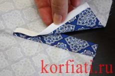 Обработка разреза рукава планкой - вид с изнаночной стороны