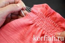 Рукав фонарик - присборить ткань