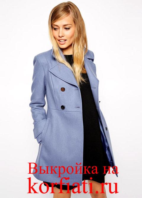 Короткое пальто - детали