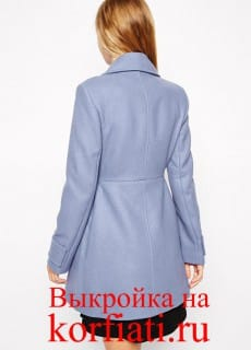 Короткое пальто - спинка