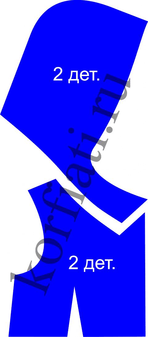 Капюшон-воротник в горловине - детали кроя