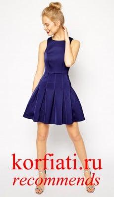 Платье на новый год 2015 - синий бархат