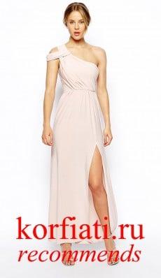 Платье на новый год 2015 - бежевое в пол