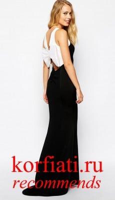 Платье на новый год 2015 - черно-белое