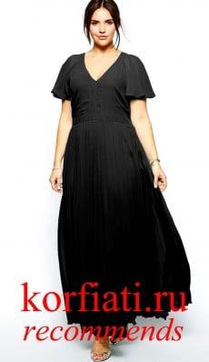 Платье на новый год 2015 - черное в пол