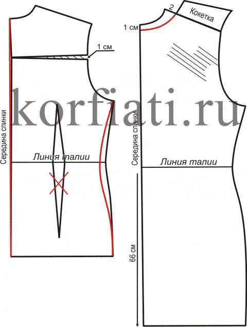 Зимний сарафан моделирование спинки