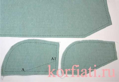 Карман с отрезным бочком - юбка и детали мешковин кармана