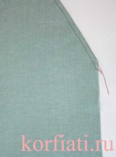 Карман с отрезным бочком - отстрочить вход в карман