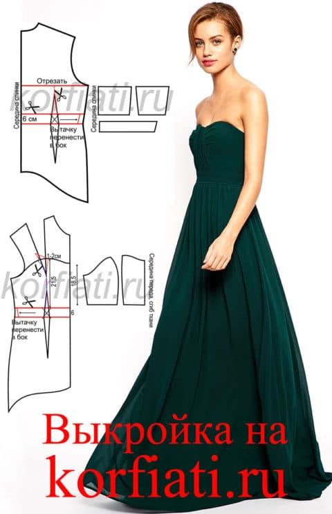 Фото раскройки платьев