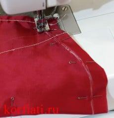 Карман мужских брюк - мешковина