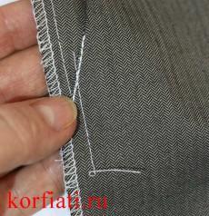 Карман мужских брюк - закрепка