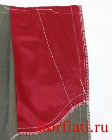 Карман мужских брюк с изнаночной стороны
