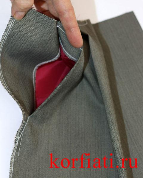 Карман на мужские брюки - мастер-класс - фото