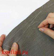 Как сшить карманы на мужские брюки - линия входа в карман