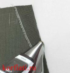 Обтачка кармана на мужских брюках