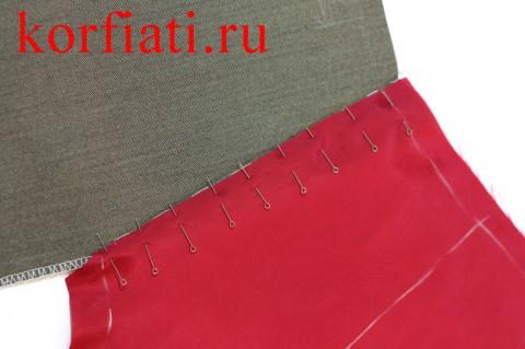 Мешковина кармана мужских брюк