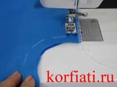Обработка платья - боковые швы