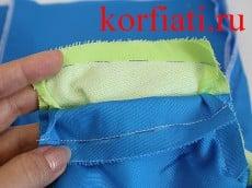 Стачать плечевые швы платья и обтачек