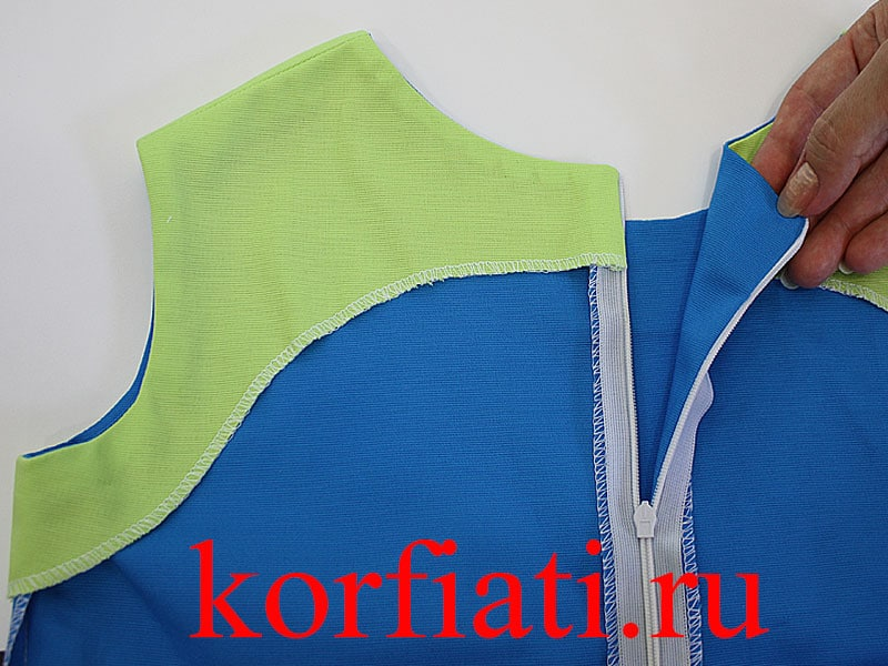 Обработка платья - горловина и проймы
