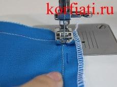 Обработка платья - машинная строчка