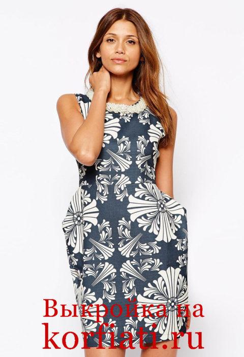 Платье с карманами - модель