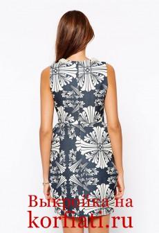 Платье с карманами - спинка