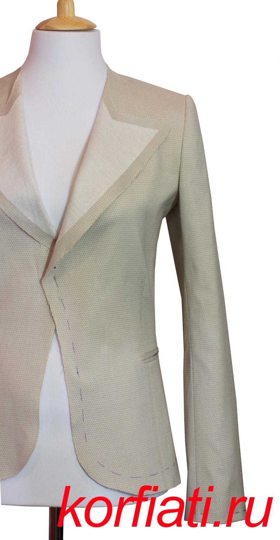 последовательность сборки пиджака