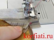 Притачной пояс - обработка