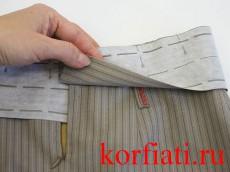 Притачной пояс на юбку как сшить