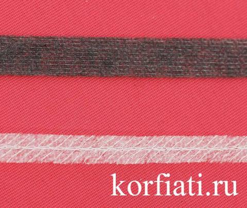 Клеевая кромка - нитепрошивная и с сутажным шнуром