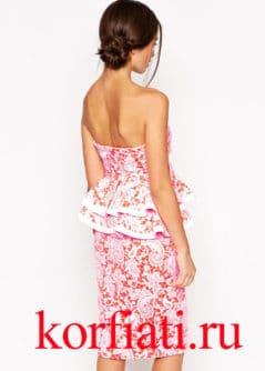 Шьем платье с воланами - вид сзади