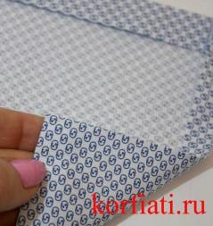 Накладной карман с прямыми углами