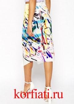 Выкройка асимметричной юбки - спинка