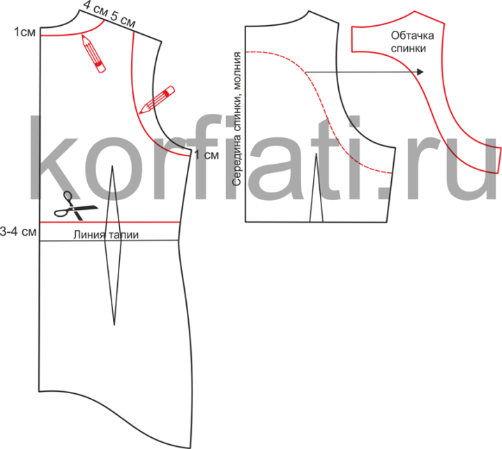 Выкройка топа и шорт - моделирование