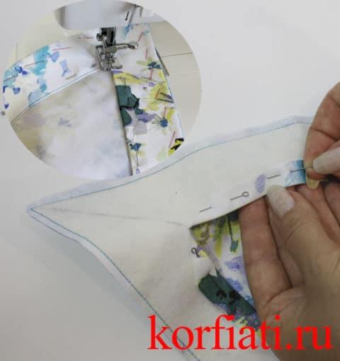Обработка подкройными обтачками
