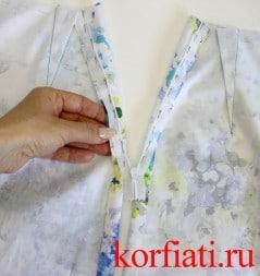 Как втачать молнию в юбку