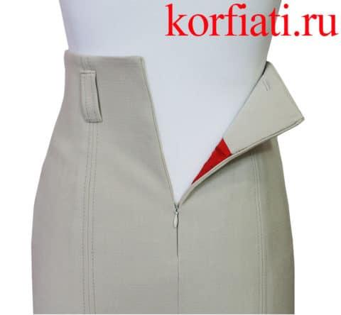 Цельнокроеный пояс юбки