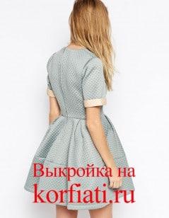 Выкройка платья из неопрена - спинка