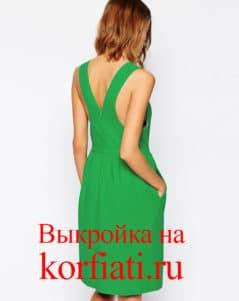 Выкройка платья-сарафана спинка
