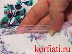 Как притачать регилин к подолу юбки