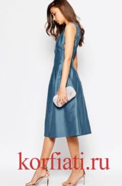 Выкройка платья с заниженной талией