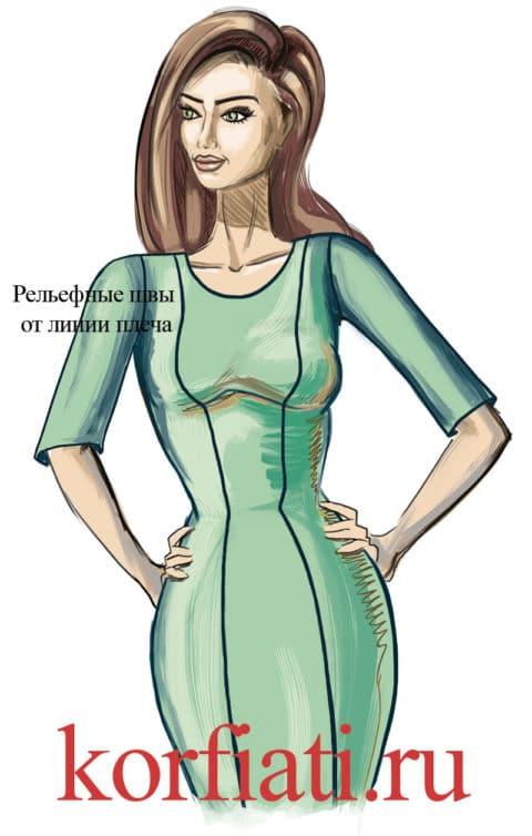 Моделирование одежды: вертикальные рельефные швы