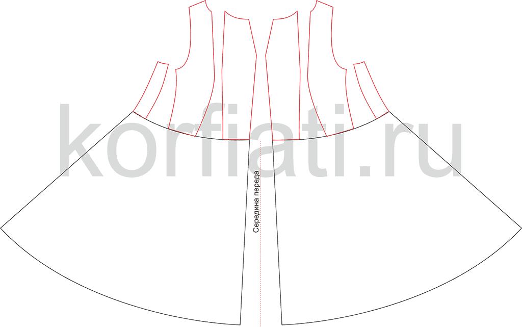 Пошив платья - моделирование юбки