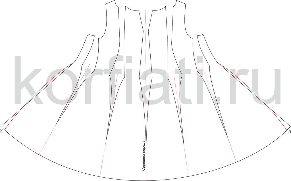 Пошив платья - перед
